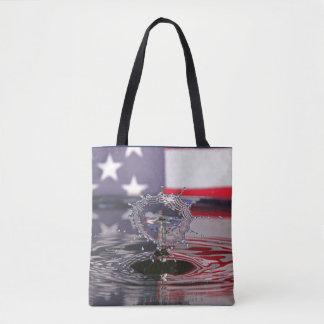 O bolsa da gota da água da bandeira