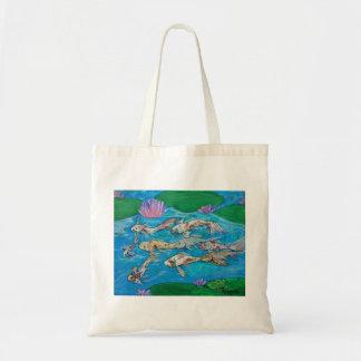 O bolsa da lagoa de peixes de Koi