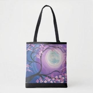 O bolsa da lua da flor de cerejeira