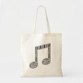 O bolsa da nota da música