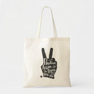 O bolsa da paz e da positividade para apoiar o