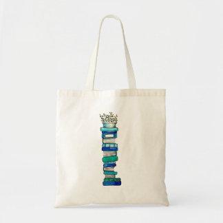 O bolsa da pilha do azul & do Livro Verde