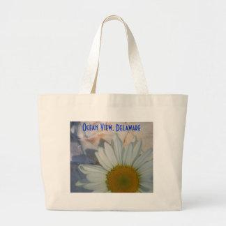 O bolsa da praia da vista para o mar