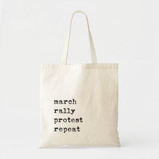 o bolsa da repetição do protesto da reunião do