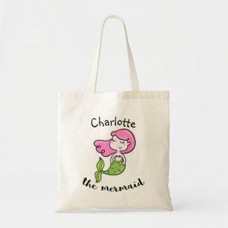 O bolsa da sereia das crianças personalizadas
