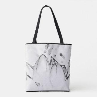 O bolsa da tulipa em preto e branco