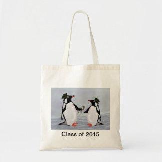 O bolsa das canvas da graduação do pinguim