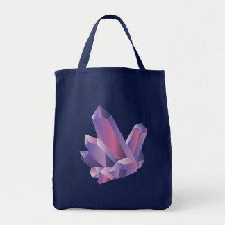 O bolsa de cristal roxo do marinho do conjunto |
