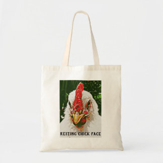 O bolsa de descanso da cara do pintinho