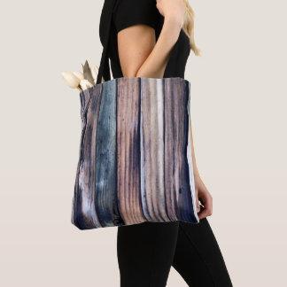 O bolsa de madeira rústico do impressão