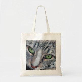O bolsa de observação do desenho do gato malhado