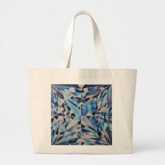 O bolsa de vidro do jumbo do diamante