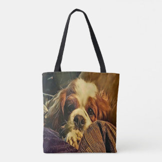 O bolsa descuidado precioso do Doggy do Spaniel de