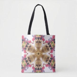 O bolsa - design do caleidoscópio do gato de