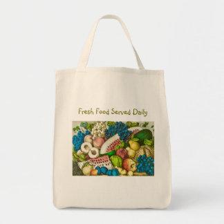 O bolsa diário fresco servido do mantimento
