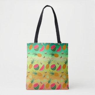 O bolsa do abacaxi da melancia da fruta tropical