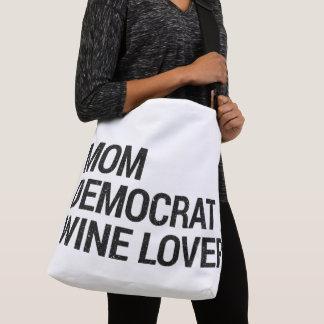 O bolsa do amante de vinho de Democrata da mamã