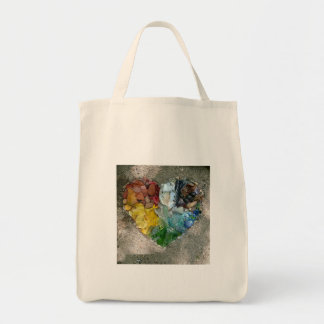 O bolsa do arco-íris do coração da natureza