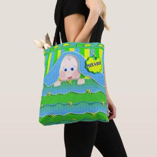 O bolsa do bebê - espreite uma vaia - verde
