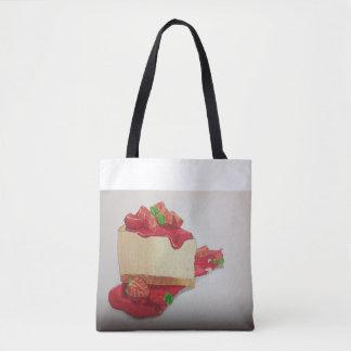 O bolsa do bolo de queijo da morango