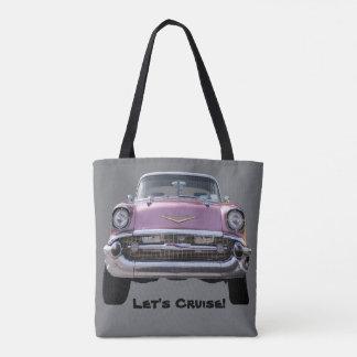 """""""o BOLSA do carro clássico cor-de-rosa"""""""