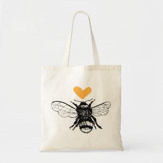 O bolsa do coração da abelha do mel