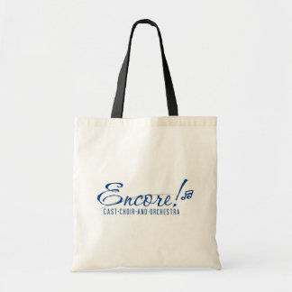 O bolsa do encore com logotipo azul