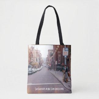 O bolsa do estilo do vintage de San Francisco