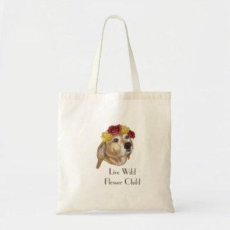 O bolsa do filhote de cachorro da flor