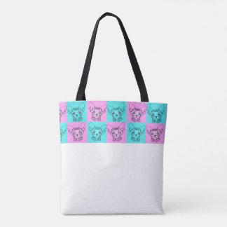 O bolsa do gatinho de Sphynx do pop art