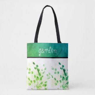 o bolsa do jardim da aguarela da arte da natureza