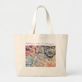 O bolsa do jumbo da arte de Buddha das citações de