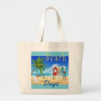 O bolsa do jumbo das férias do oceano da areia das