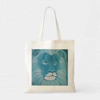 O bolsa do leão de turquesa