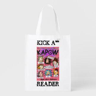 O bolsa do leitor de KAPOW Sacolas Reusáveis