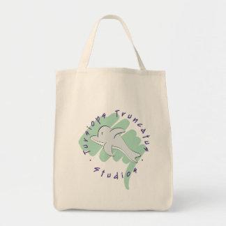 O bolsa do logotipo dos estúdios de Truncatus do