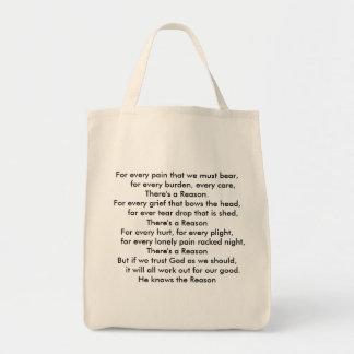 O bolsa do mantimento com poema bonito