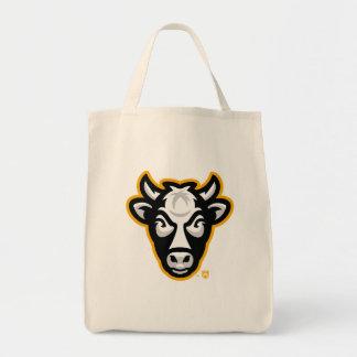 O bolsa do mantimento do logotipo da vaca de