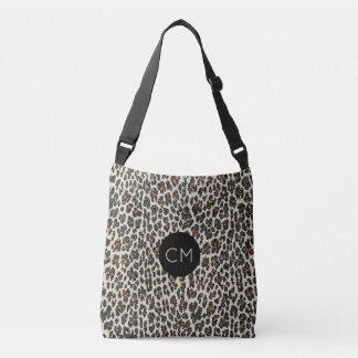 O bolsa do monograma da faísca do leopardo