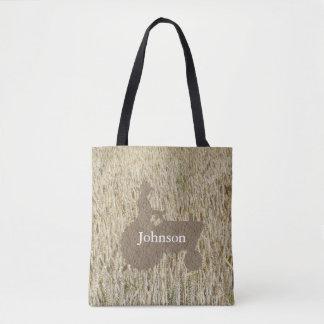O bolsa do monograma do trator e do trigo