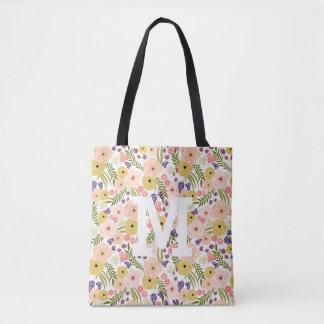 O bolsa do monograma do Wildflower