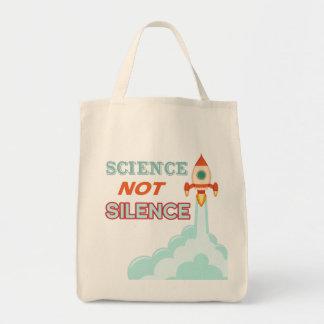 O bolsa do navio do foguete do silêncio da ciência