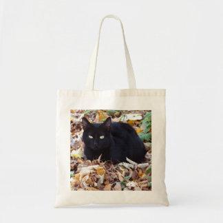 O bolsa do orçamento das folhas de outono do gato