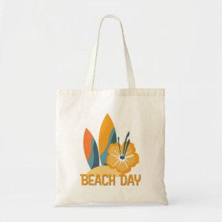 O bolsa do orçamento do dia da praia