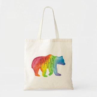 O bolsa do orgulho da família da aguarela do urso