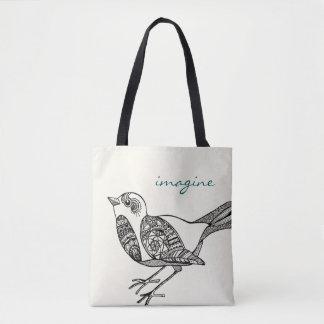 O bolsa do pássaro no preto e na cerceta