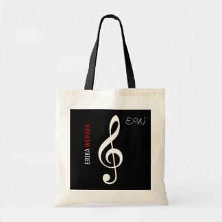 o bolsa do preto da nota musical com seu próprio