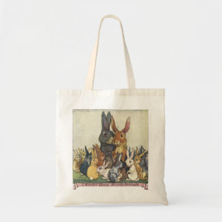 O bolsa do retrato da família do coelhinho da Pásc