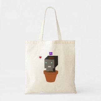 O bolsa do robô do pote de flor