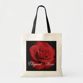 O bolsa elegante da rosa vermelha